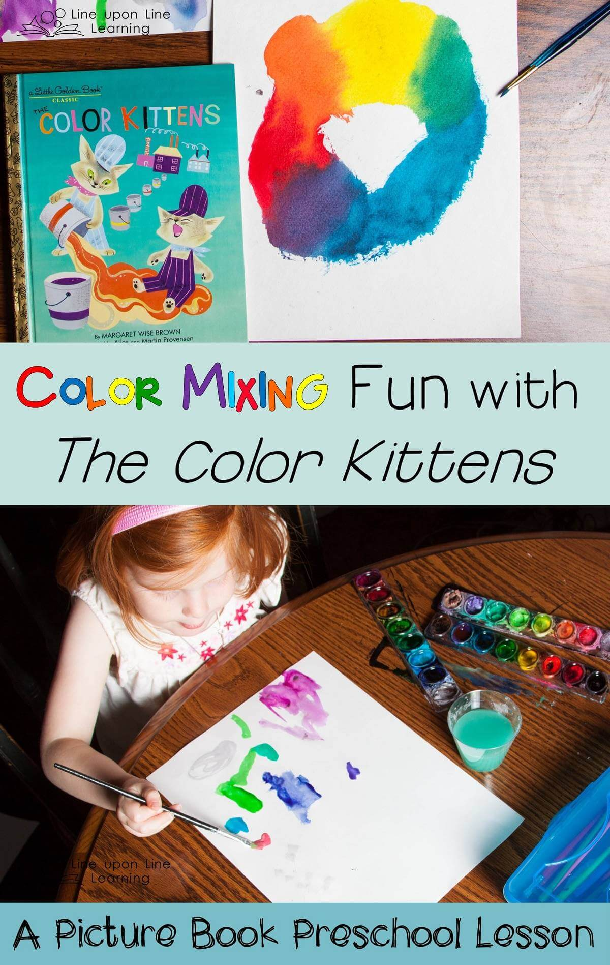 "We practiced mixing our own colors after reading The Color Kittens. Then we painted our own pictures with ""all the colors in the world."""