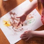 Chocolate Painting with I'm a Hungry Dinosaur