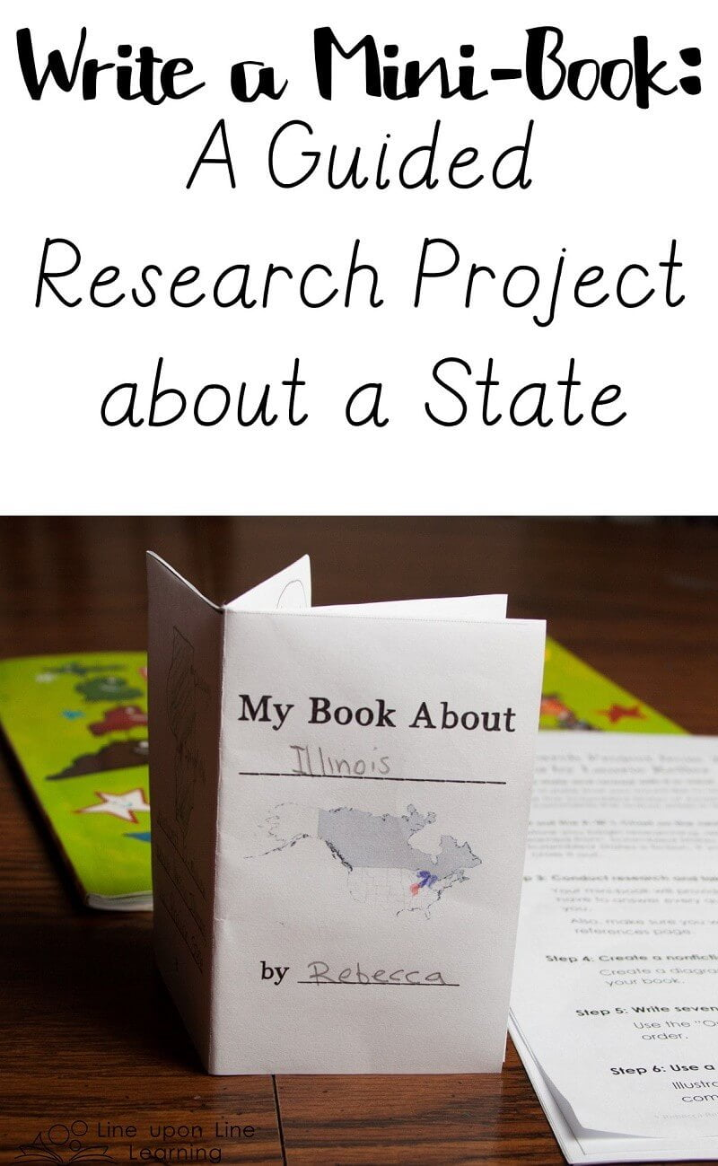 By following simple steps to gather information, record sources referenced, and outline the facts that are known, we prepared mini-books about a state of our choice.