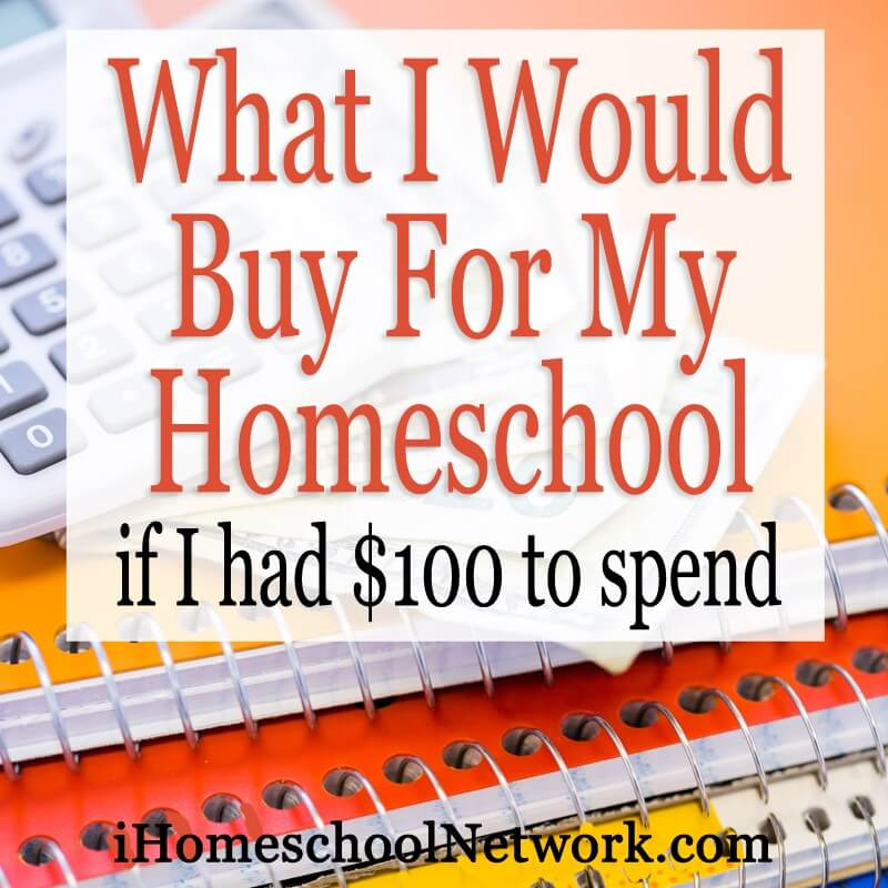 What I would buy for my homeschool if I had $100 to spend