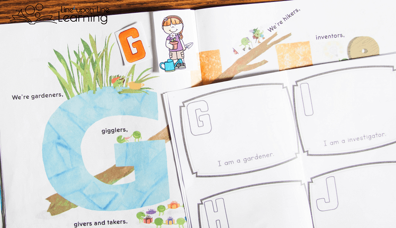 LMNO Peas shows PEAS doing things. Our alphabet book of people in the community shows kids and community helpers in their roles.