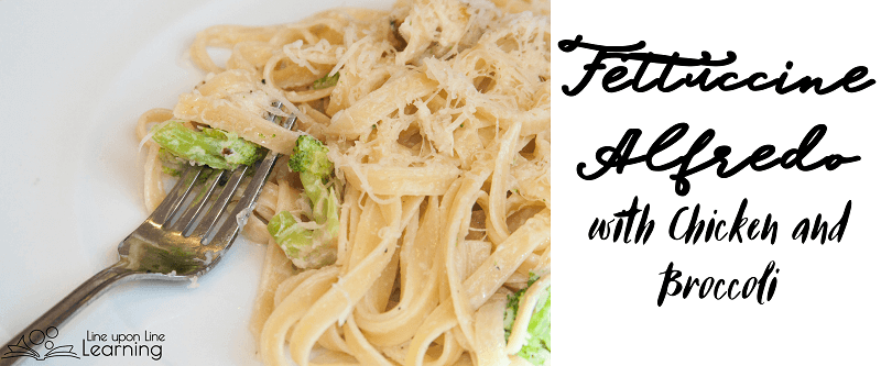 Fettuccine Alfredo with chicken and broccoli is easy to make. It's a complete meal and very child friendly!