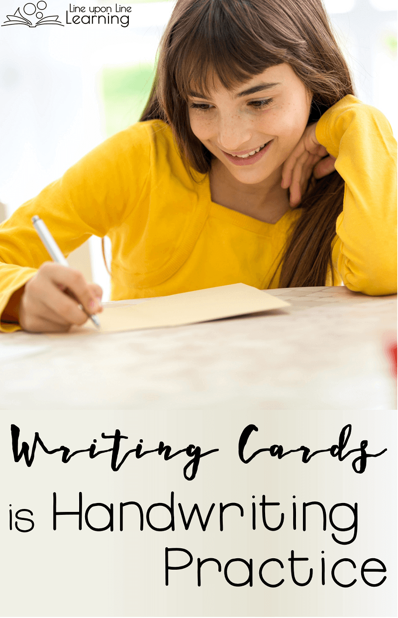 Writing cards to family and friends is a great way to practice handwriting skills, without your children even realizing it!