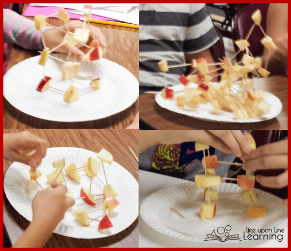 Building with apples was much more fun (and delicious) than we expected!