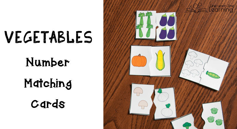The vegetable number matching cards are self-correcting.