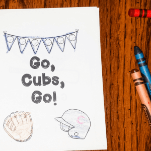 Go, Cubs, Go! Early Reader Freebie