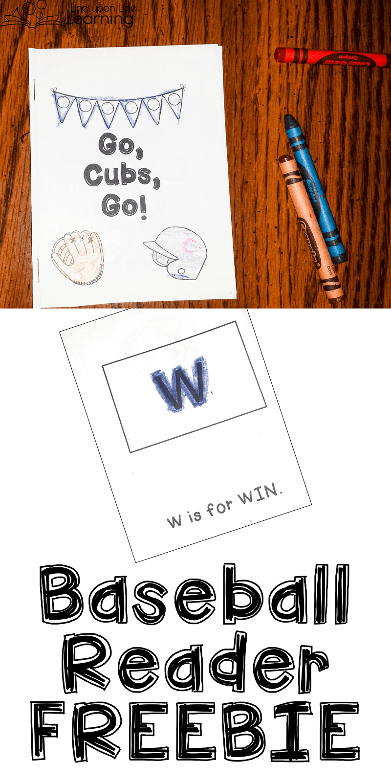 Read about a baseball game with this fun Cubs win early reading booklet!