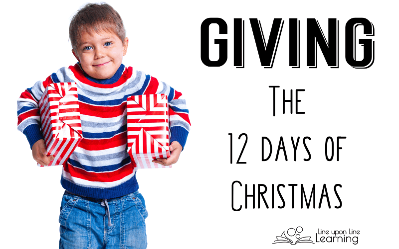 My kids loved planning twelve days of Christmas treasures and treats to give to friends!