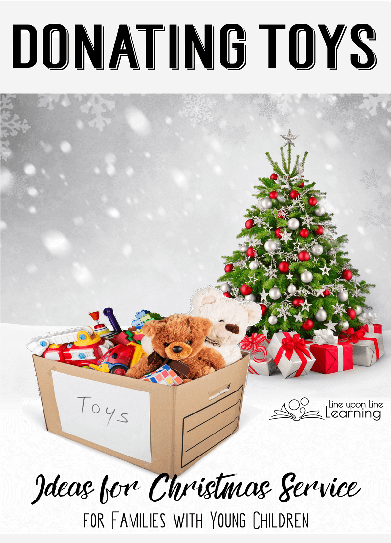 During the holidays, we donate gently used toys we no longer need to children who may not have as much as we do.