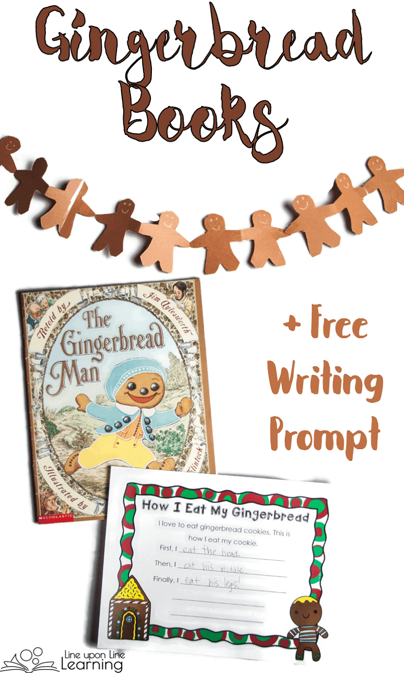 These gingerbread books are deliciously fun to read! Plus, get a simple writing prompt about EATING gingerbread for free!