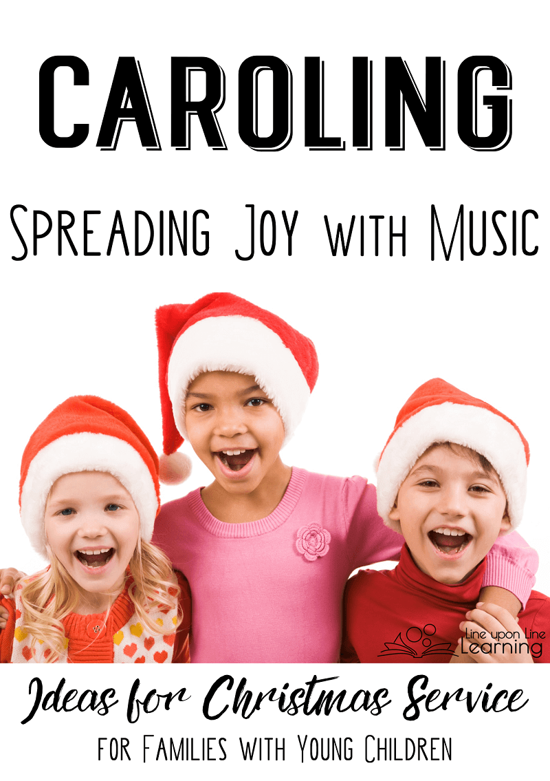 Encouraging your children to join you in singing carols to friends, family, or other