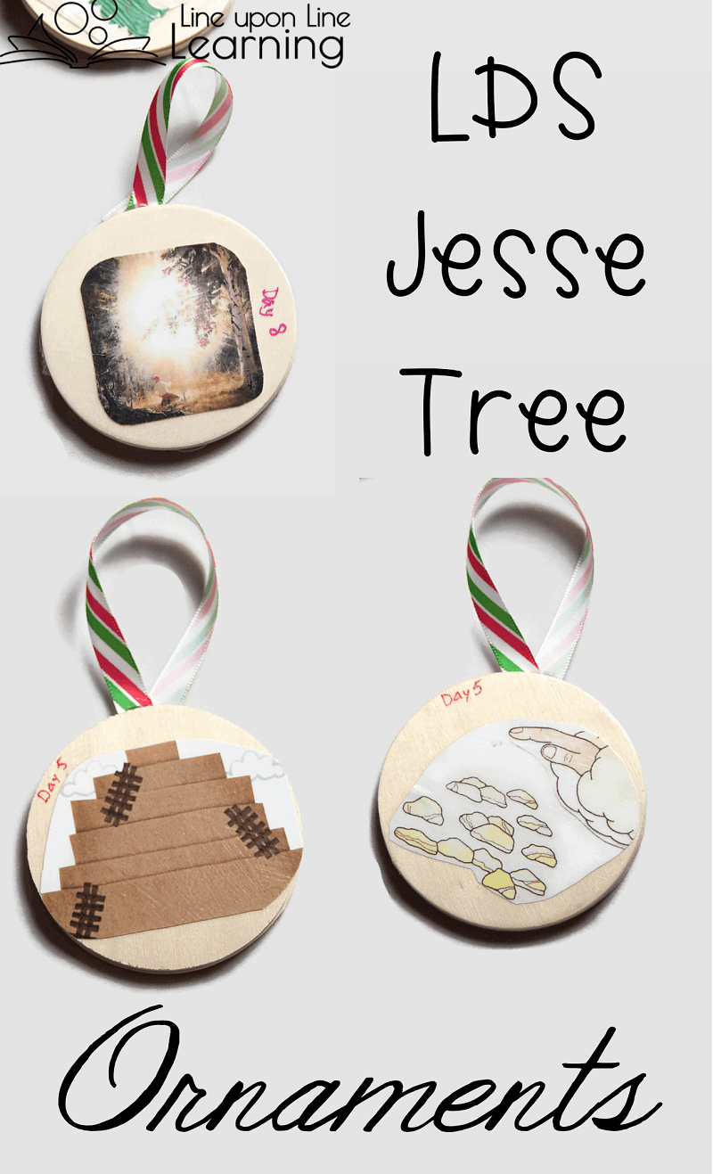 I love how my two-sided LDS Jesse Tree ornaments turned out! What a perfect way to prepare for Christmas during the month of December.