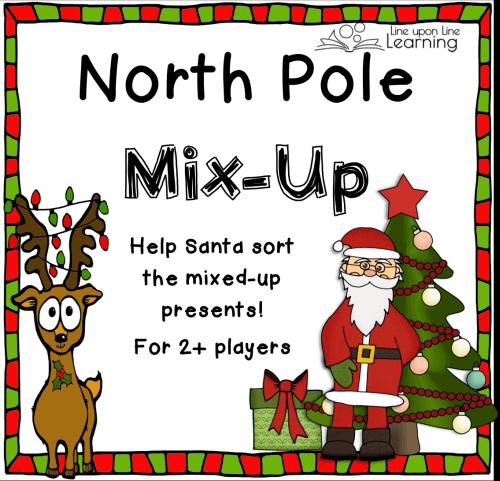 printable christmas game north pole mix up