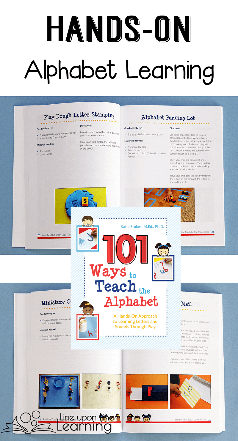 101 Ways to Teach the Alphabet has amazing alphabet learning activity ideas that are truly hands-on.
