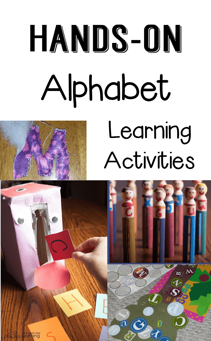 "We've had so fun with our alphabet learning activities, from the letter ""people"" to the sticker games to the recycled ""monster."" Truly hands-on!"