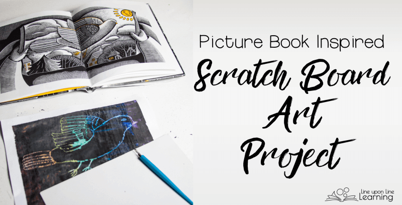 After making our own scratch boards, we used the textures in the picture book as inspiration for our own etchings.
