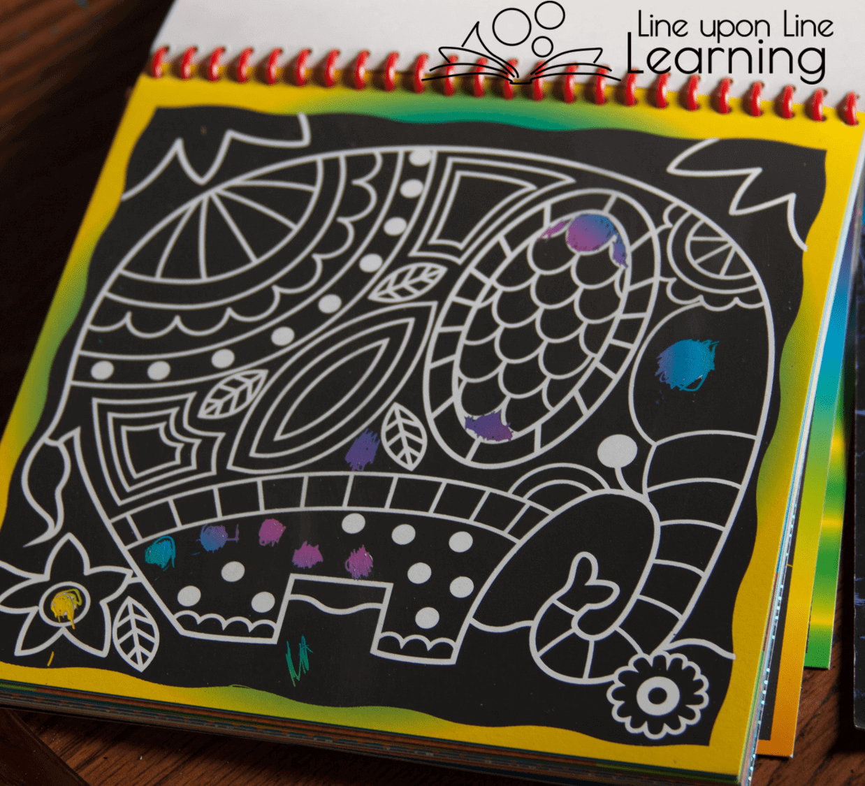 Using a pre-printed scratch board is fun, but we wanted to have a little more freedom in our own scratch board art project.