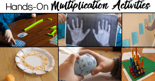 Get your kids moving with these hands on multiplication review activities.