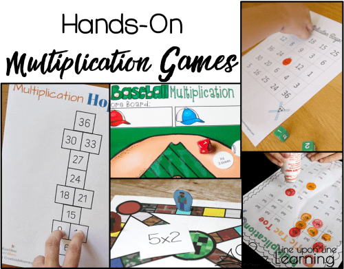 It's is so much fun to do hands-on multiplication review with games!