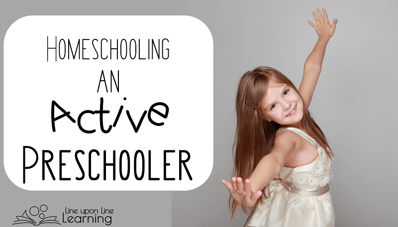 To homeschool active preschooler, don't try to recreate preschool at home. Follow your child's lead and help them learn to love learning!