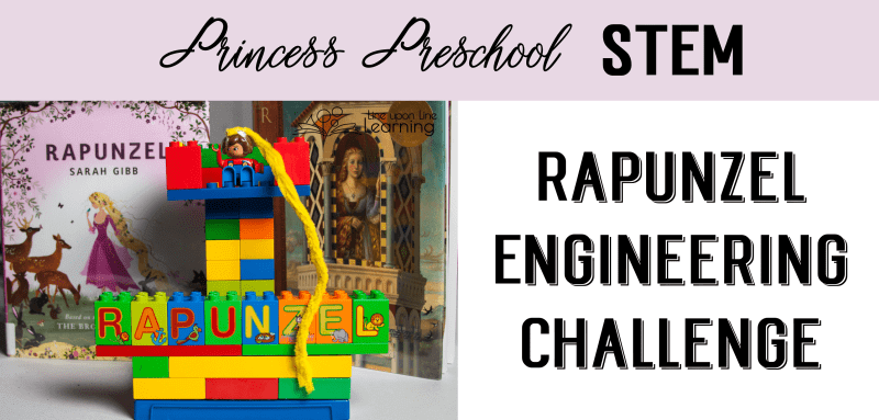 With our Rapunzel engineering challenge, we practiced building a tower (and learned about foundations) as well as retelling a favorite story.
