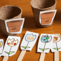 Sort the pictures on each flower into the correct word family flower pot. We used mini-flower pots to make this word family picture sort even more hands-on for spring.