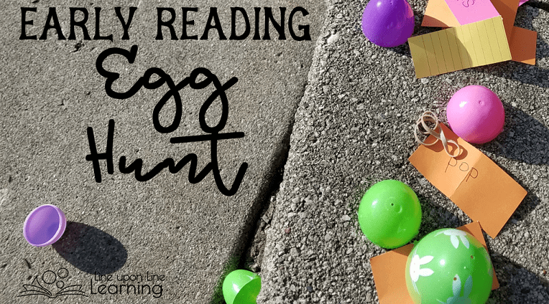 Take early reading practice on the move with an active egg hunt.