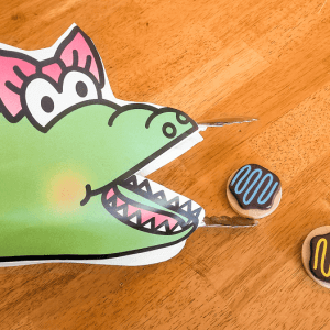 Alligator Fine Motor Skills Play and Math Activity