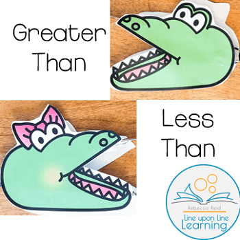 Subscribe to the newsletter to get instant access to this greater than/less than alligator freebie!