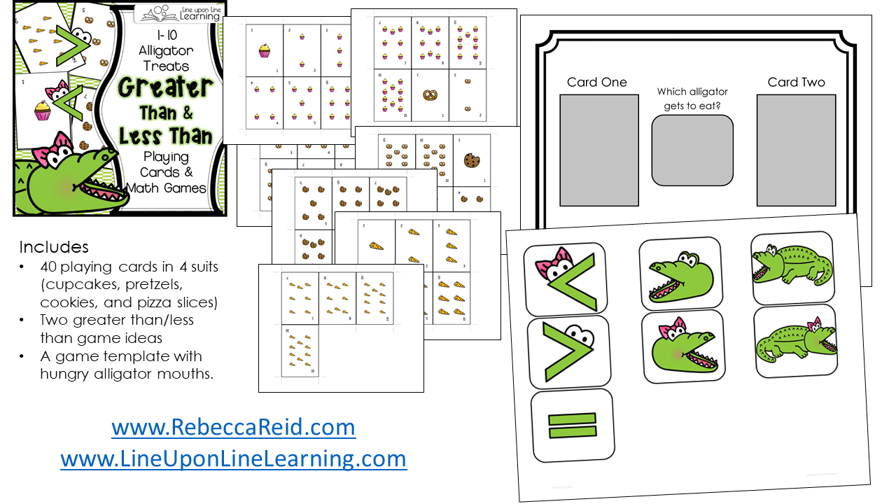 worksheet Greater Or Less Than alligator greater than less cards and game line upon next treats playing less