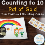 Pot of Gold Ten Frames Counting COVER