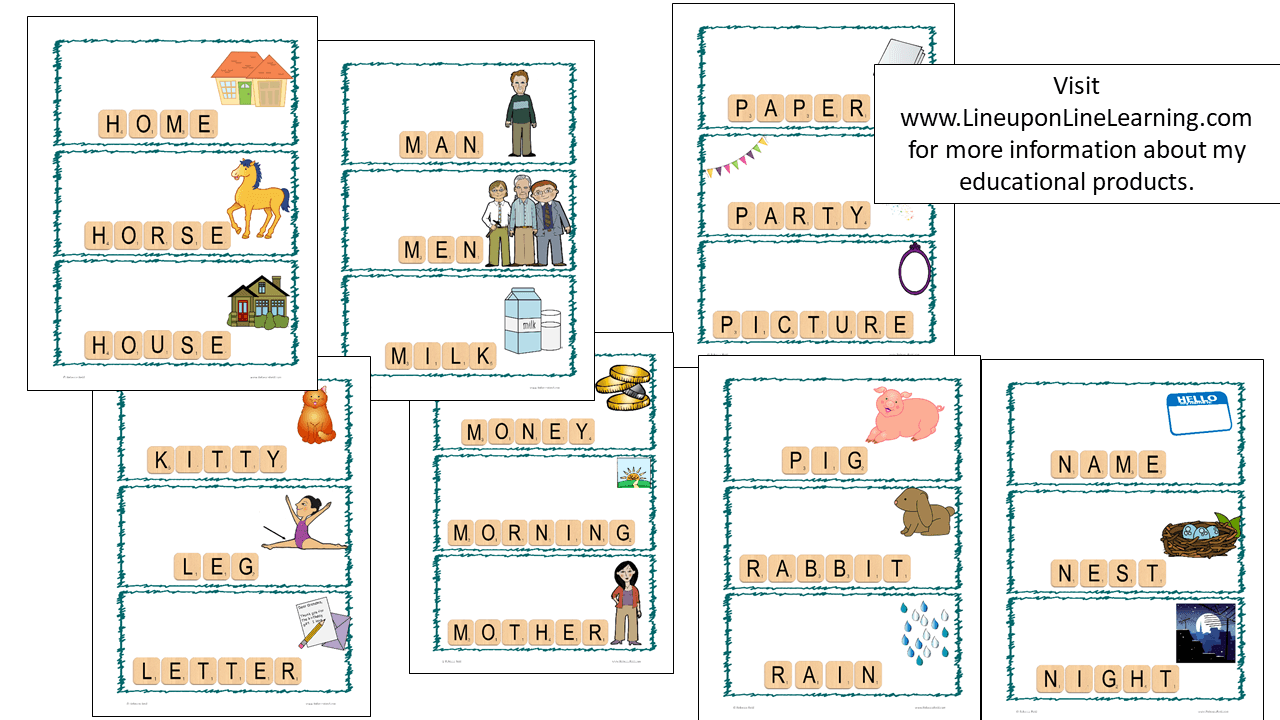 Letter tiles sight words nouns templates line upon line for Is floor a noun