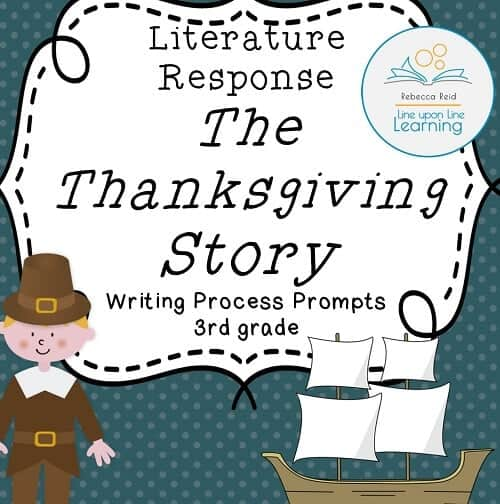Thanksgiving Writing-3rd grade Thanksgiving Story COVER