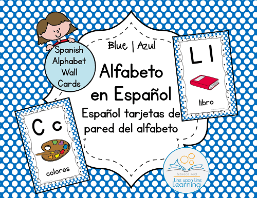 alfabeto espanol Wall Cards BLUE--COVER