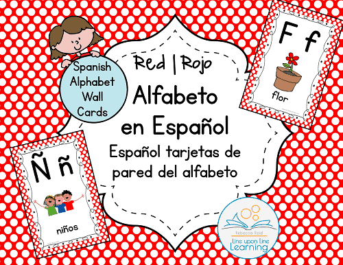 alfabeto espanol Wall Cards RED--COVER