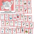 alfabeto espanol Wall Cards RED--DEMO