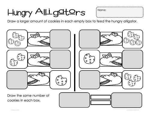 Cool Hungry Alligator Math Free Printable Worksheets Paging Supermom ...
