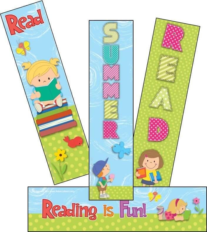 Four cute summer bookmarks