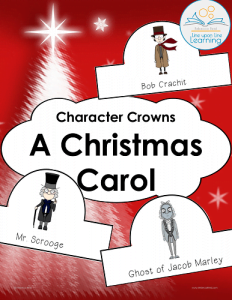 picture relating to A Christmas Carol Worksheets Printable named A Xmas Carol People Crowns -- Line on Line Studying