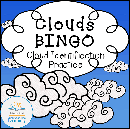 clouds and water cycle BINGO COVER