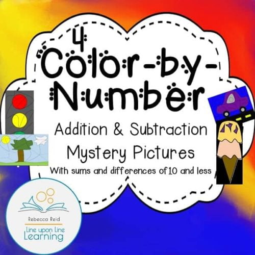 color by number add subtract COVER