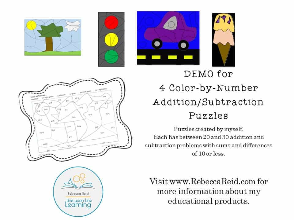 color by number add subtract DEMO