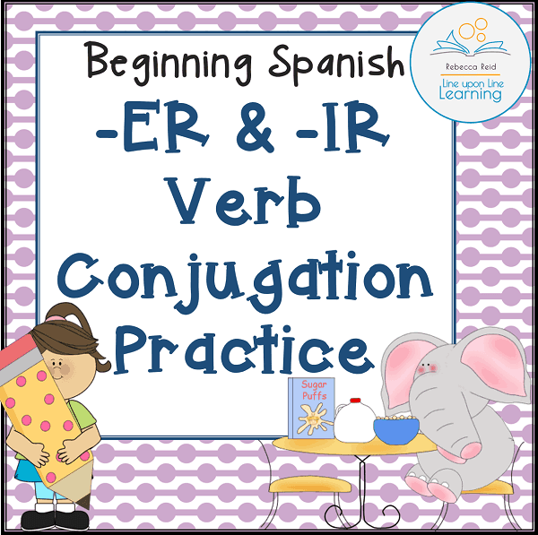 Spanish verb conjugation er ir cover