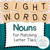 letter tiles nouns COVER