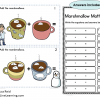 marshmallow addition task cards DEMO