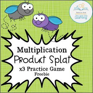 multiplication product splat x3 freebie