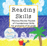 reading foundational skills first grade summer COVERR