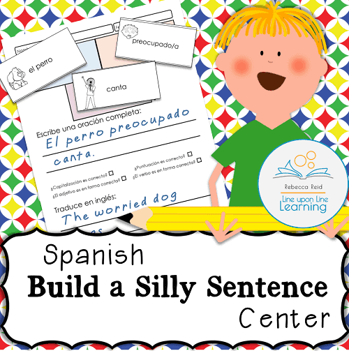 spanish sentence building center line upon line learning
