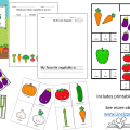 vegetables literacy counting DEMO