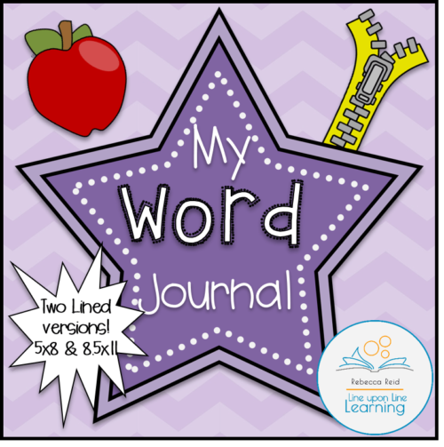 lined word journal for spelling  vocabulary  u2013 line upon
